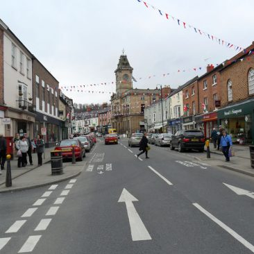 Welshpool has a bustling High Street